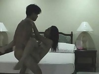 Hot bedroom fuck for Asian amateur couple