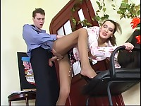 Helena&Mike pantyhose mom in action